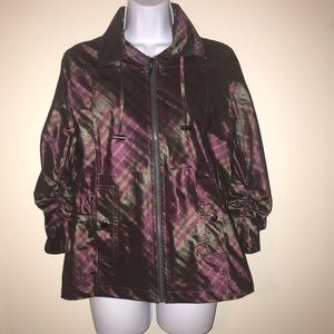 Chico's Green and Purple Plaid Jacket
